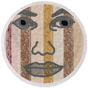 Face It Round Beach Towel
