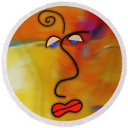 Beauty Is In The Eye Of The Beholder Round Beach Towel