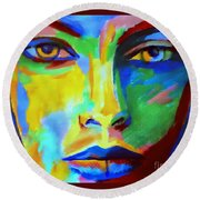 Lost In Thoughts Round Beach Towel