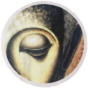 Face Pastel Chalk 2 Round Beach Towel
