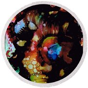 Face To Face.. Round Beach Towel