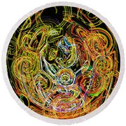 Faces Of Life Round Beach Towel