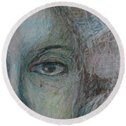 Faces - Right Round Beach Towel