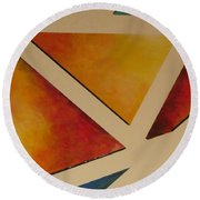 Facets 4 Round Beach Towel