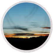 Fade To Night Round Beach Towel