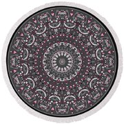 Faded Cedar No. 1 Mandala Round Beach Towel
