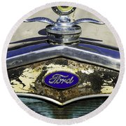 Faded Ford Round Beach Towel
