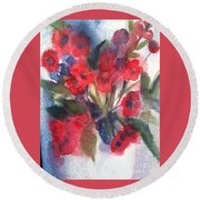 Faded Memories Round Beach Towel by Sherry Harradence