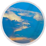 Fading Clouds Round Beach Towel