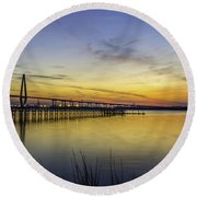 Fading Colors Round Beach Towel