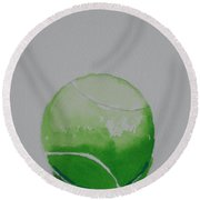 Fading Green Round Beach Towel