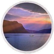Fading Of The Light Round Beach Towel