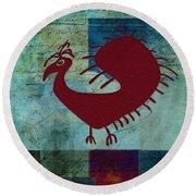 Fafa Bird - 01c01bcr Round Beach Towel