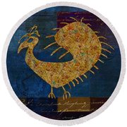 Fafa Bird - 01c04alss Round Beach Towel