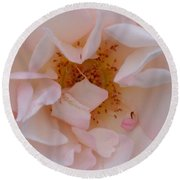 Faintly Pink - Rose Round Beach Towel
