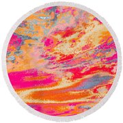 Fairgrounds Sky Round Beach Towel