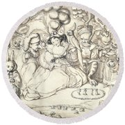 Fairy Concert, C.1830 Round Beach Towel