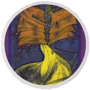 Fairy Godmother By Jrr Round Beach Towel