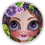 Fairy Of The Insects Round Beach Towel
