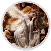 Fairy Of The Key Round Beach Towel