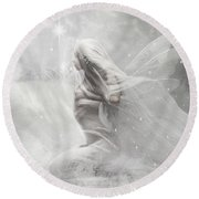 Fairy Of Vulnerability Round Beach Towel