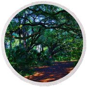 Fairy Path Round Beach Towel