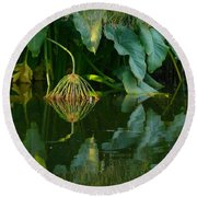Fairy Pond Round Beach Towel