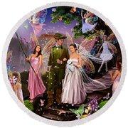 Fairy Wedding Round Beach Towel
