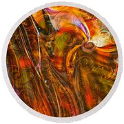 Fairytale Colors Round Beach Towel