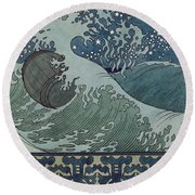 Fairytale Of The Tsar Saltan Round Beach Towel