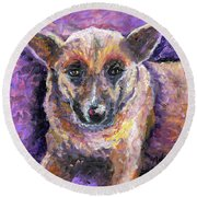 Faithful Friend Round Beach Towel