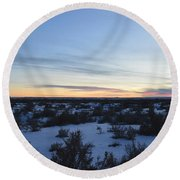 Fajada Sunset Round Beach Towel