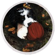 Fall 4 U Round Beach Towel