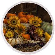 Fall Assortment Round Beach Towel