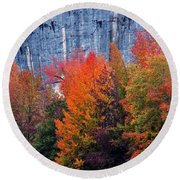 Fall At Steele Creek Round Beach Towel