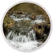 Fall At The Lower Falls Round Beach Towel