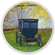 Fall Buggy 2014 Round Beach Towel