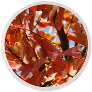 Fall Color 2 Round Beach Towel