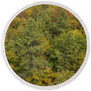 Fall Color Hills Mi 5 Round Beach Towel