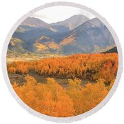 Fall Colors 3 Round Beach Towel