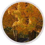 Fall Colors Round Beach Towel by Adam Romanowicz