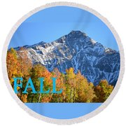 Fall Colors Cover Work Round Beach Towel