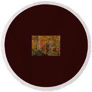 Fall Colors Greeting Card Round Beach Towel