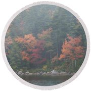 Fall Colors In Acadia National Park Maine Img 6483 Round Beach Towel