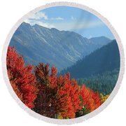 Fall Colors In Joseph Or Round Beach Towel