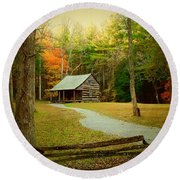 Fall Color's Round Beach Towel