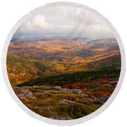 Fall Colors Of Acadia 6656 Round Beach Towel