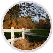 Fall Comes To The Hollow Round Beach Towel