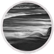 Fall Creek Flow Round Beach Towel