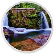 Fall Creek Oregon 3 Round Beach Towel